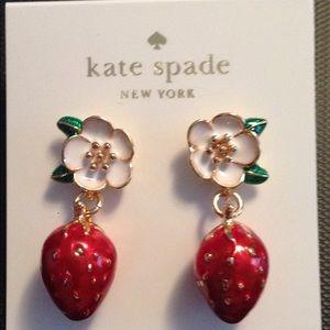 Kate spade picnic strawberry earrings
